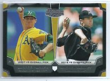 2012 Bowman Draft Dual Top 10 Picks #PH Andrew Heaney/Jarrod Parker