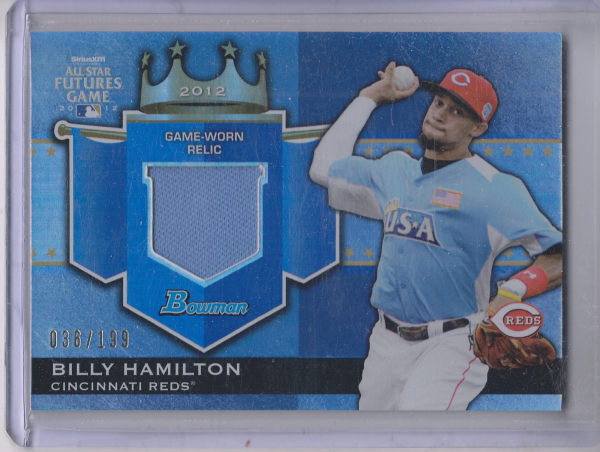 2012 Bowman Draft Future's Game Relics #BH Billy Hamilton