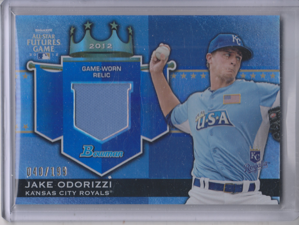 2012 Bowman Draft Future's Game Relics #JO Jake Odorizzi