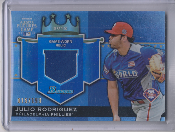 2012 Bowman Draft Future's Game Relics #JR Julio Rodriguez