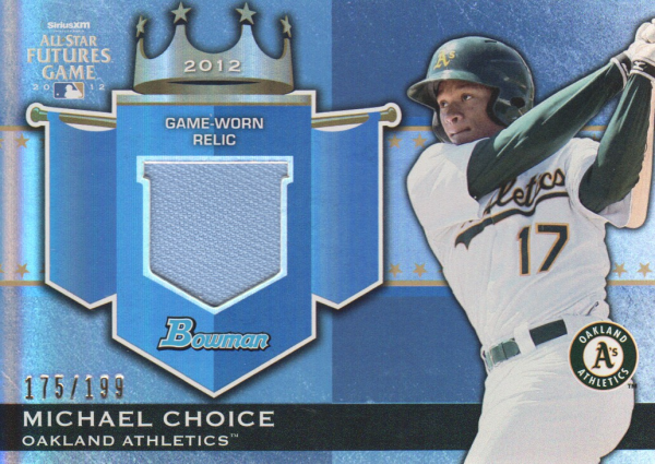 2012 Bowman Draft Future's Game Relics #MC Michael Choice