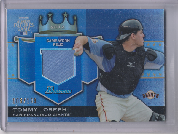 2012 Bowman Draft Future's Game Relics #TJ Tommy Joseph