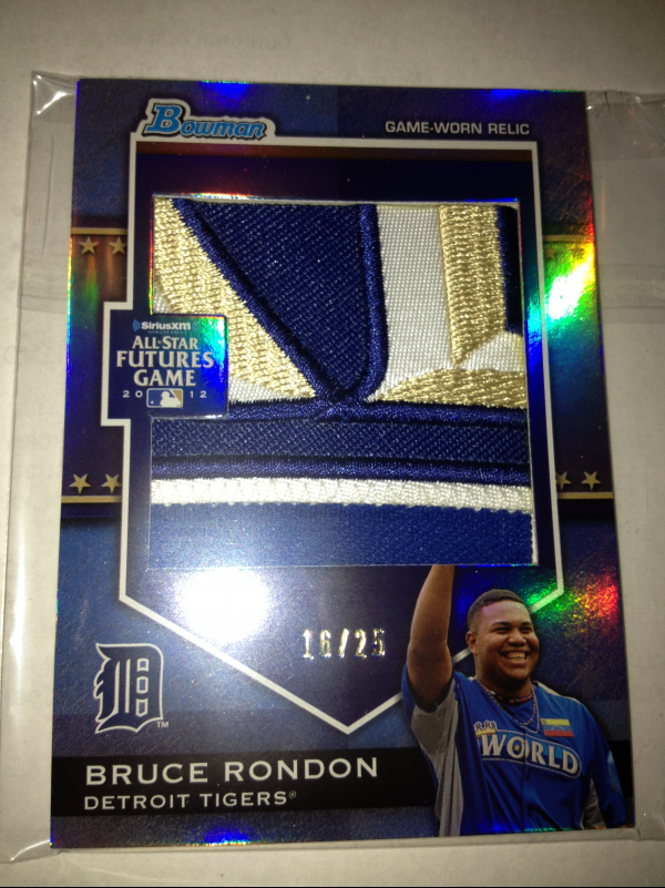 2012 Bowman Draft Future's Game Jumbo Patch #BR Bruce Rondon