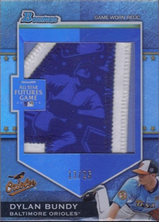 2012 Bowman Draft Future's Game Jumbo Patch #DB Dylan Bundy