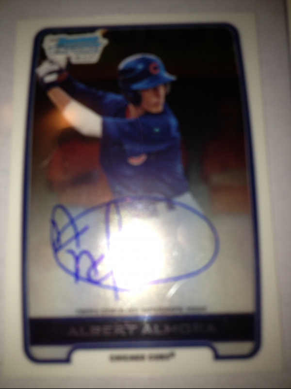 2012 Bowman Chrome Draft Draft Pick Autographs #AA Albert Almora
