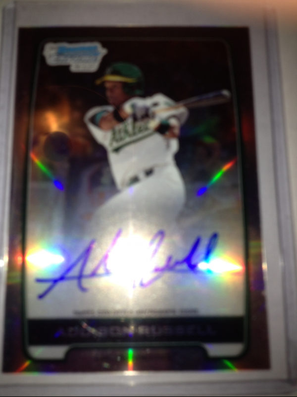 2012 Bowman Chrome Draft Draft Pick Autographs Refractors #AR Addison Russell