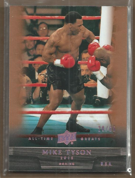 2012 Upper Deck All-Time Greats Bronze #95 Mike Tyson