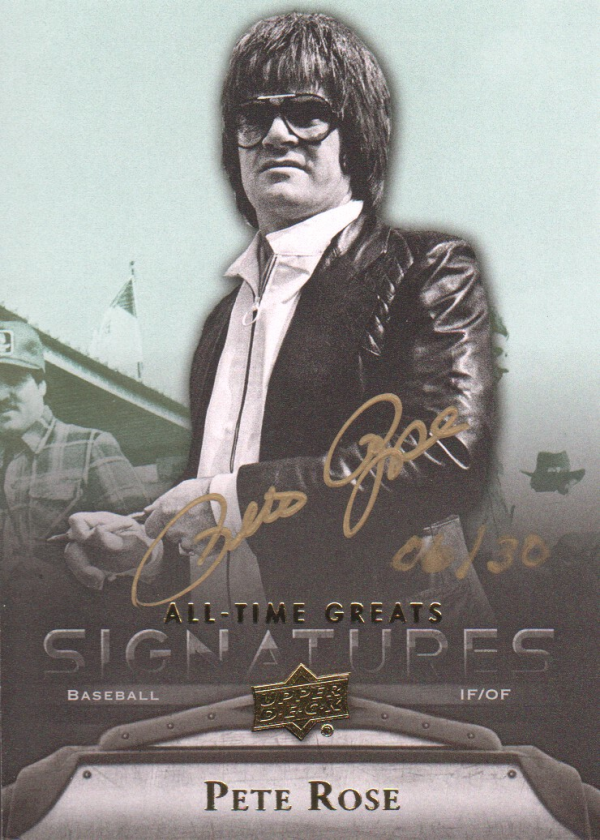 2012 Upper Deck All-Time Greats Signatures #GAPR2 Pete Rose/30