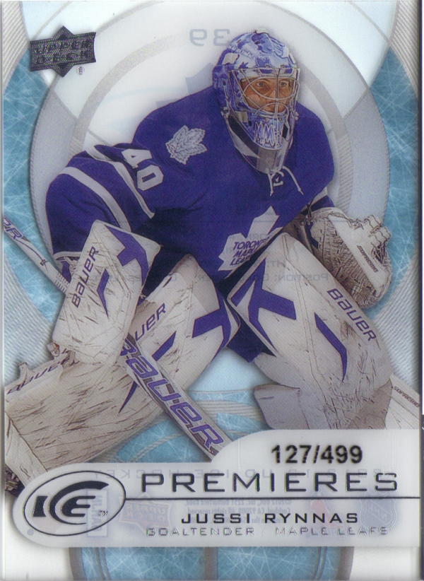 2012-13 Upper Deck Ice #39 Jussi Rynnas/499 RC