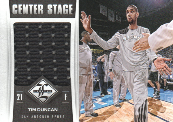 2012-13 Limited Center Stage Materials #3 Tim Duncan/199