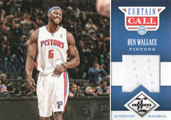 2012-13 Limited Curtain Call Materials #21 Ben Wallace/199