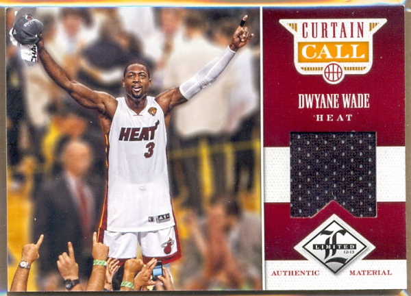 2012-13 Limited Curtain Call Materials #27 Dwyane Wade/199