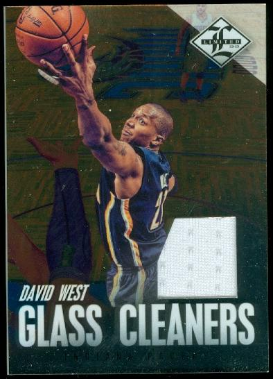 2012-13 Limited Glass Cleaners Materials #25 David West/99