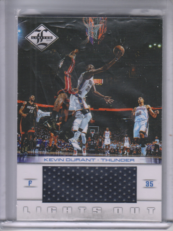 2012-13 Limited Lights Out Materials #3 Kevin Durant/199