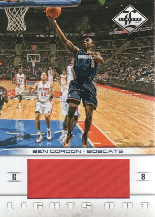 2012-13 Limited Lights Out Materials #10 Ben Gordon/199