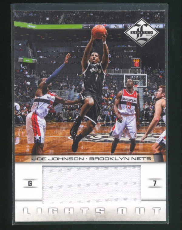 2012-13 Limited Lights Out Materials #12 Joe Johnson/199