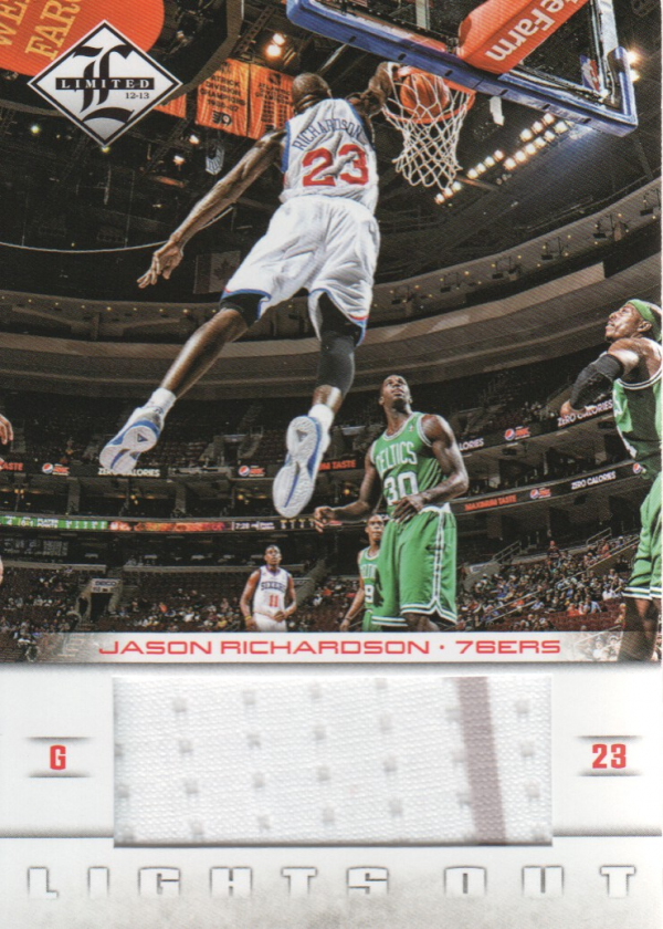 2012-13 Limited Lights Out Materials #16 Jason Richardson/199