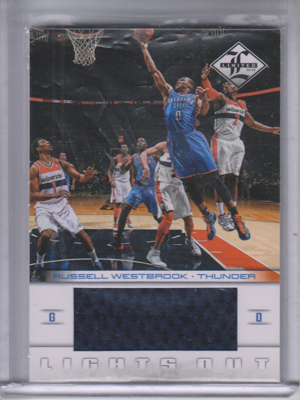 2012-13 Limited Lights Out Materials #18 Russell Westbrook/199