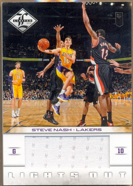 2012-13 Limited Lights Out Materials #21 Steve Nash/199