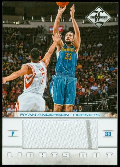 2012-13 Limited Lights Out Materials #28 Ryan Anderson/64