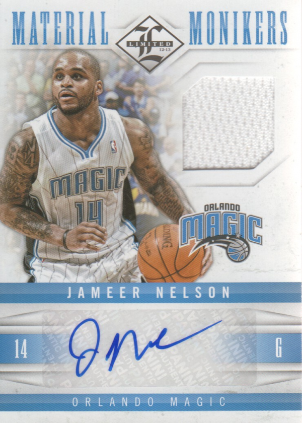 2012-13 Limited Monikers Materials #16 Jameer Nelson/49