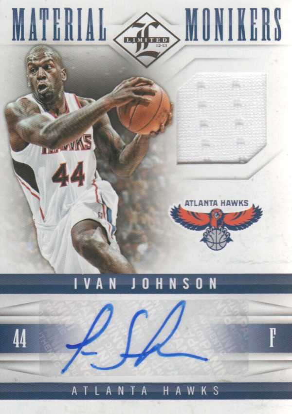 2012-13 Limited Monikers Materials #29 Ivan Johnson/99
