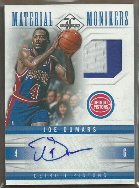 2012-13 Limited Monikers Materials Prime #13 Joe Dumars/25