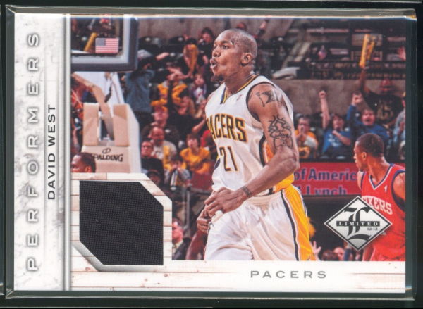 2012-13 Limited Performers Materials #15 David West/199