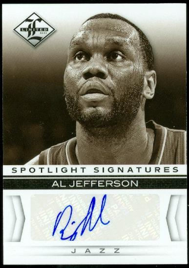 2012-13 Limited Spotlight Signatures #29 Al Jefferson/49