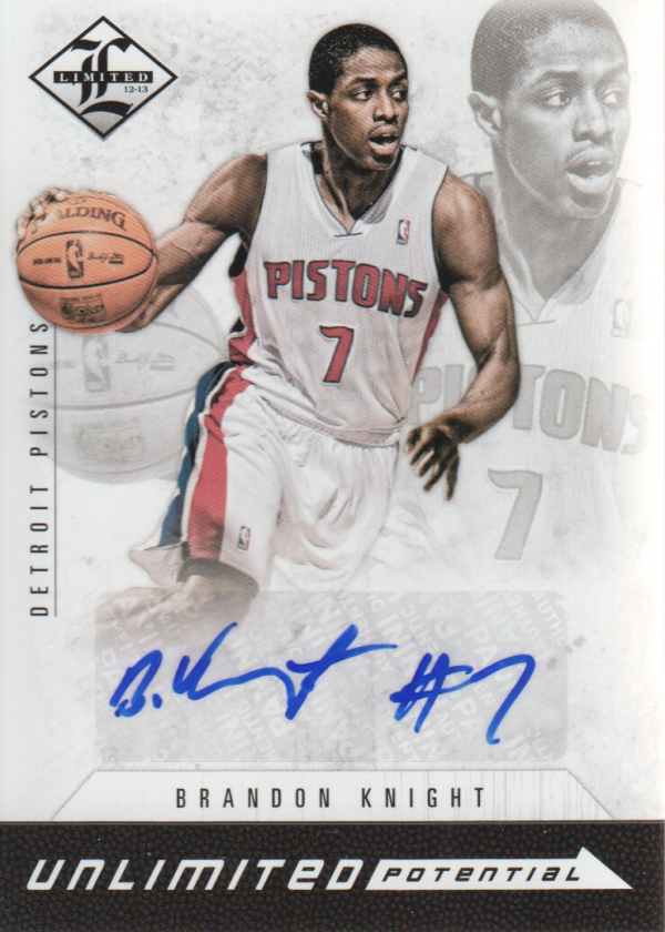 2012-13 Limited Unlimited Potential Signatures #5 Brandon Knight/199