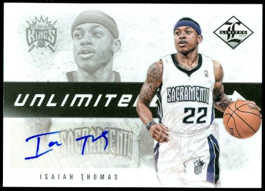 2012-13 Limited Unlimited Potential Signatures #8 Isaiah Thomas/199