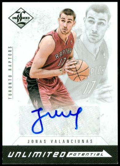 2012-13 Limited Unlimited Potential Signatures #25 Jonas Valanciunas/199