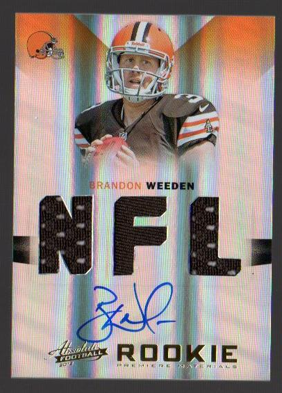 2012 Absolute #205 Brandon Weeden JSY AU RC