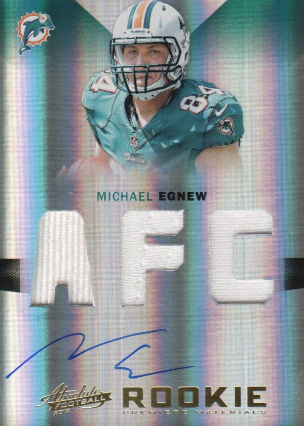 2012 Absolute Rookie Premiere Materials Autographs AFC/NFC #221 Michael Egnew