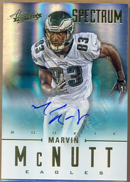 2012 Absolute Spectrum Gold Autographs #164 Marvin McNutt/299