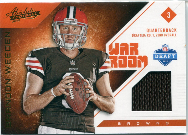 2012 Absolute War Room Materials #6 Brandon Weeden