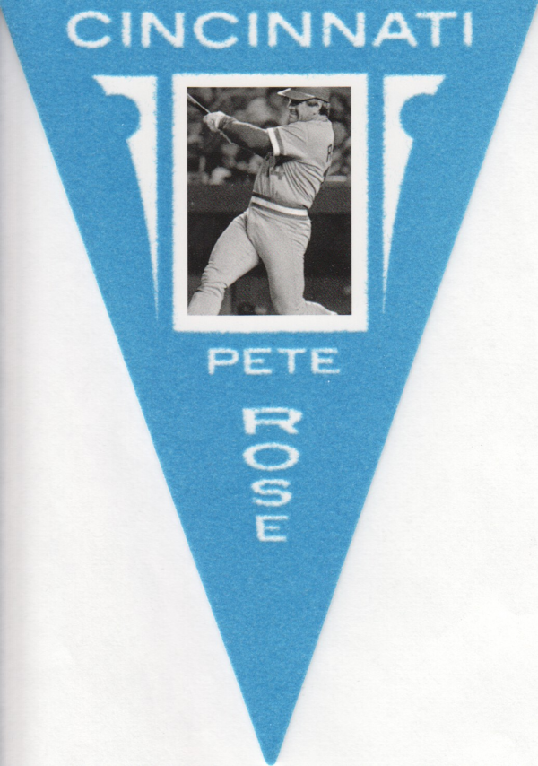 2012 Panini Golden Age Ferguson Bakery Pennants Blue #36 Pete Rose