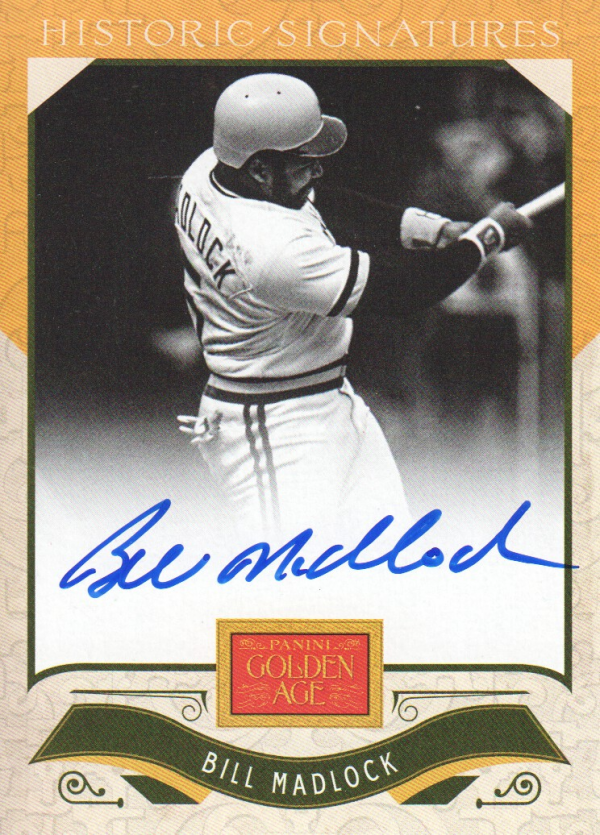 2012 Panini Golden Age Historic Signatures #13 Bill Madlock
