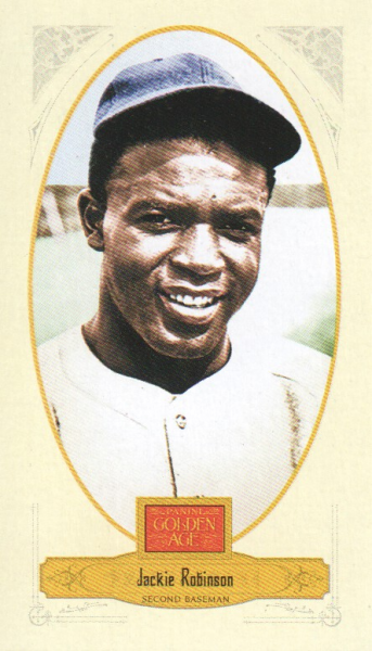 2012 Panini Golden Age Mini Broadleaf Brown Ink #41 Jackie Robinson