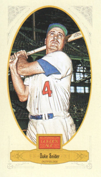 2012 Panini Golden Age Mini Broadleaf Brown Ink #68 Duke Snider