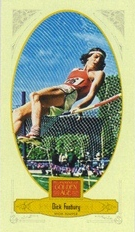 2012 Panini Golden Age Mini Broadleaf Brown Ink #80 Dick Fosbury