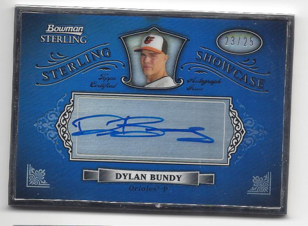 2012 Bowman Sterling Showcase Autographs #DB Dylan Bundy