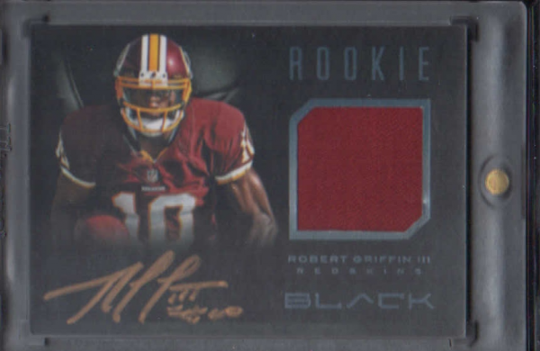 2012 Panini Black #R2 Robert Griffin III JSY AU RC