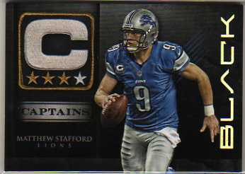 2012 Panini Black Captains #7 Matthew Stafford