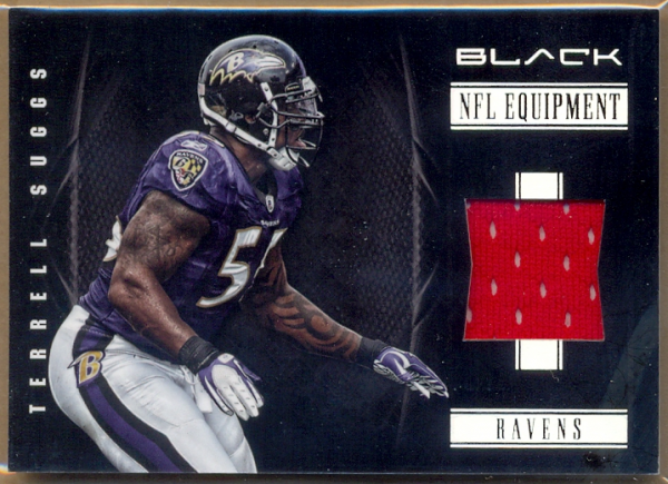 2012 Panini Black NFL Equipment #6 Terrell Suggs/99