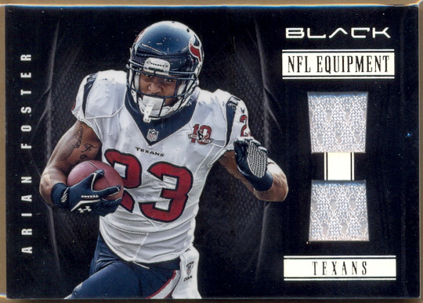 2012 Panini Black NFL Equipment Combos #19 Arian Foster/99