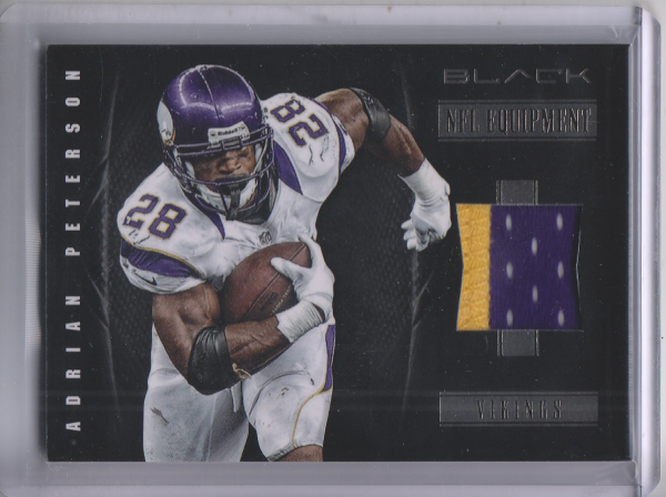 2012 Panini Black NFL Equipment Prime #2 Adrian Peterson/49