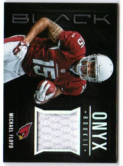 2012 Panini Black Onyx Rookie Materials #8 Michael Floyd