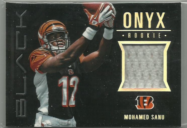 2012 Panini Black Onyx Rookie Materials #16 Mohamed Sanu