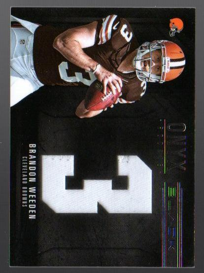 2012 Panini Black Onyx Rookie Materials Jumbo Prime Jersey Number #6 Brandon Weeden